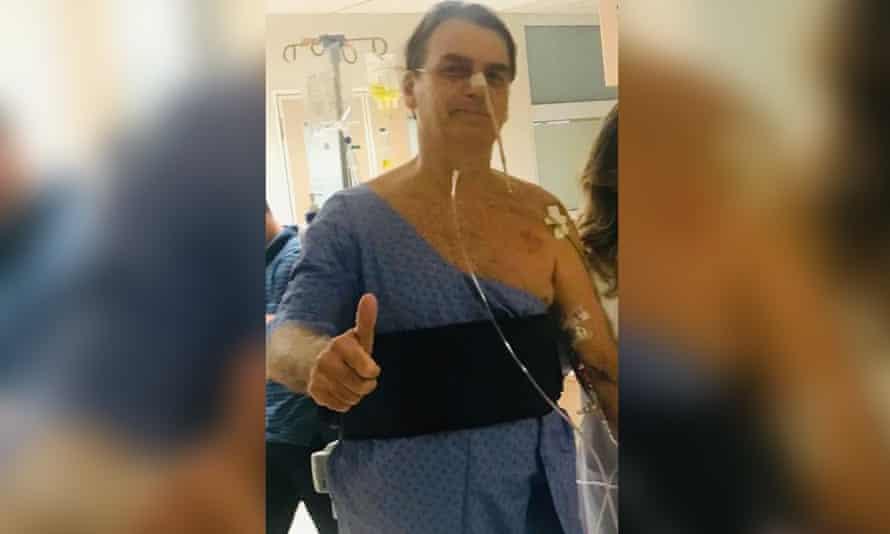 Bolsonaro was hospitalised at Albert Einstein Hospital in Sao Paulo on 7 February.