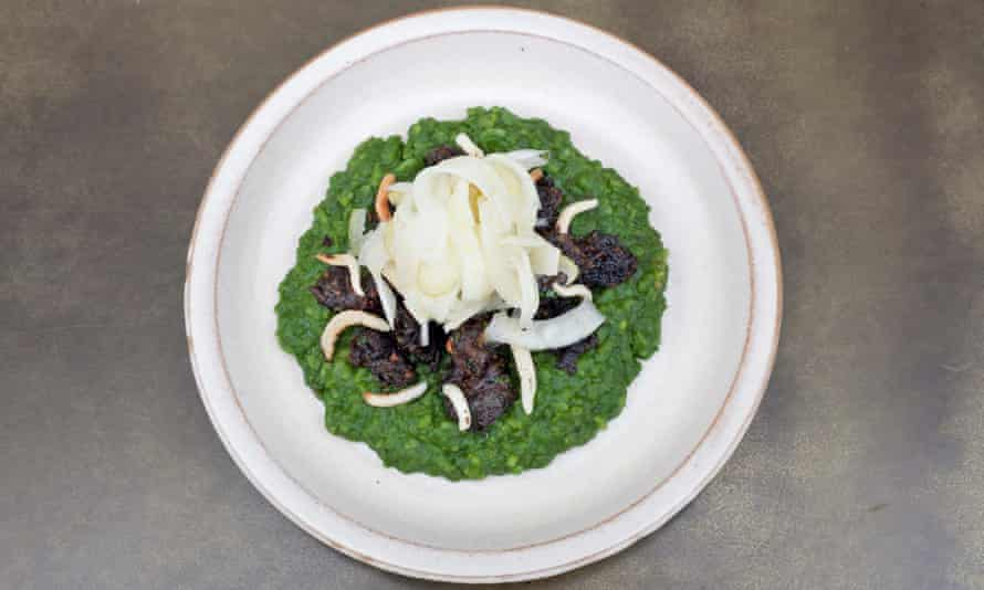 'I hope to God it's an homage': escargot with moong daal.