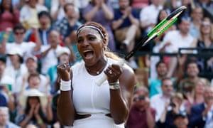 Serena Williams celebrates her win over Giulia Gatto-Monticone.