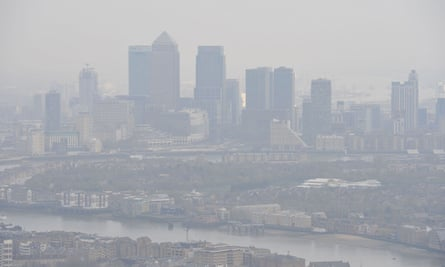 London skyline: people living in the UK are 64 times more likely to die from air pollution than people living in Sweden.