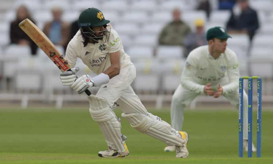 Haseeb Hameed in action for Nottinghamshire against Worcestershire last week.