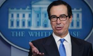 The US Treasury secretary Steven Mnuchin