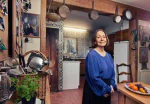 Claudia Roden at home in 2015. 'It feels like she's right next to you in the kitchen.'