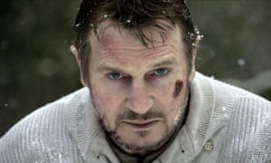 Neeson performing in The Grey.