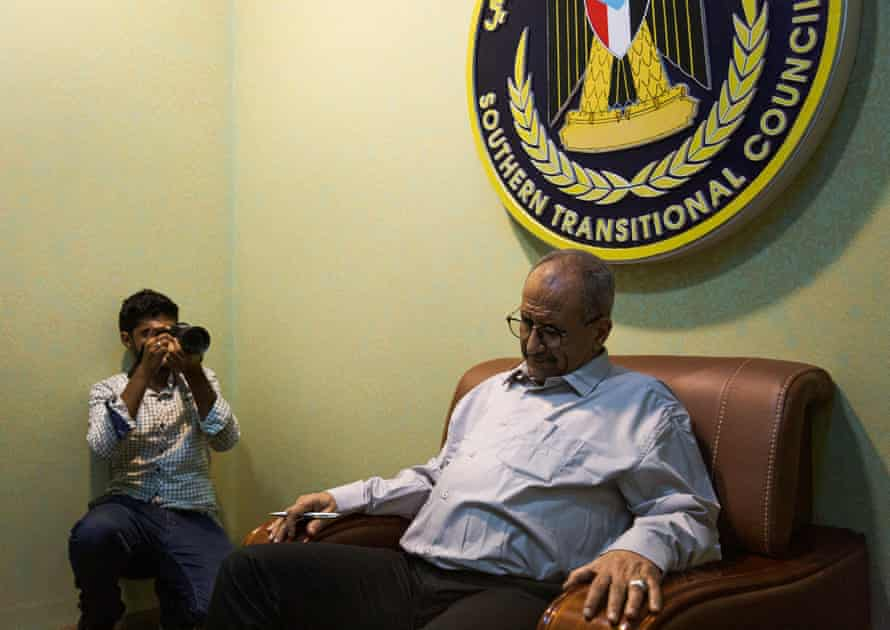 Fadhel Mohammed al-hade, member of the Southern Security Council, during an interview in his office, in the port city of Aden