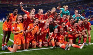 The Netherlands players rejoice