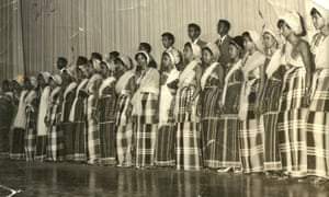 Waaberi theatre troupe in Mogadishu in the 1970s.