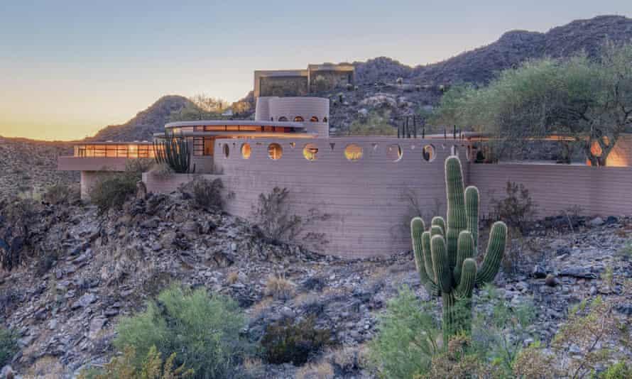 The property, nicknamed the Circular Sun House, is located in Phoenix, Arizona.
