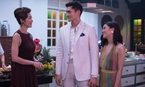Michelle Yeoh, Henry Golding and Constance Wu in Crazy Rich Asians.