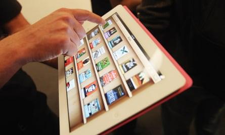 iBooks on an iPad