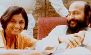 Ma Anand Sheela with Bhagwan Shree Rajneesh
