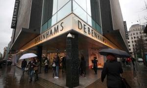 A Debenhams store in London
