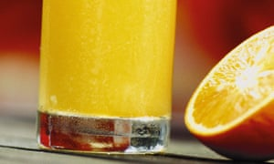 Orange juice, with orange