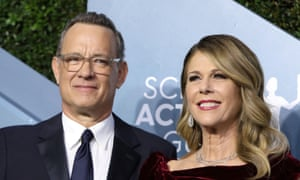 Tom Hanks and Rita Wilson arrive at the 26th Screen Actors Guild Awards in Los Angeles, January 19, 2020.