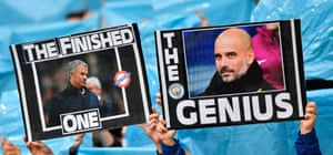 With Manchester City closing in on the title, their fans had banners at the ready before April's derby game