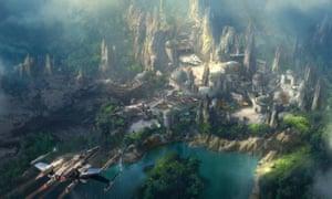 Artist's impression of the new Disney theme park Star Wars Land.