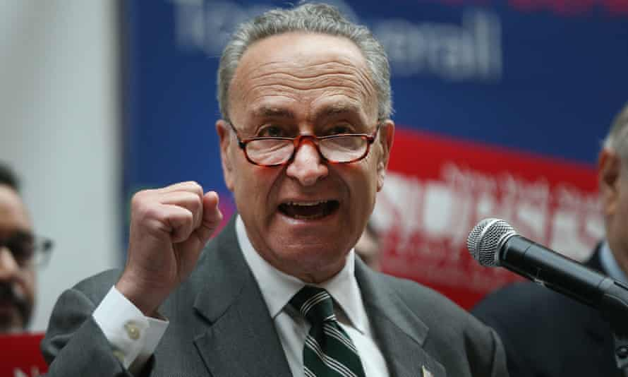 Senator Chuck Schumer also talked about watching a New York Yankees baseball game alongside a man who wore pro-Trump clothing.