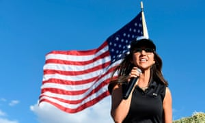 Lauren Boebert at a rally in Colona, Colorado in October. Non-residents in Washington must register guns with the DC police.