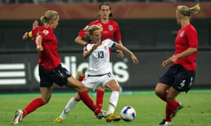 Kristine Lilly in action against England during the 2007 World Cup