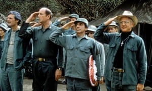 David Ogden Stiers, second left, in M*A*S*H.