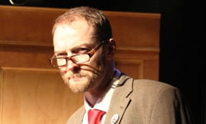 Protest singer … Martin Neely as Jeremy Corbyn in Corbyn the Musical.