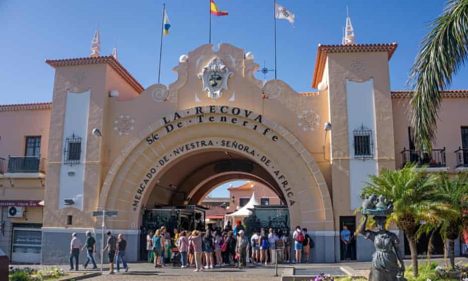 Entrance of Mercado Nuestra Senora de Africa, town market at Santa Cruz de Tenerife
