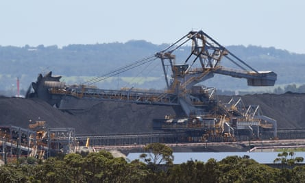 Coal operations at the Port of Newcastle.