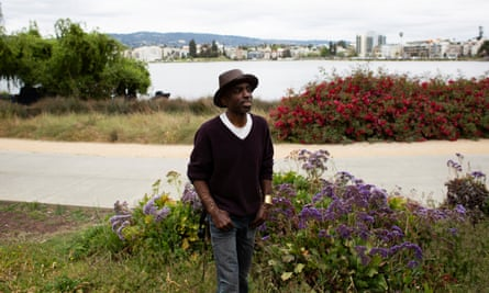 Theo Williams at Oakland's Lake Merritt. In 2015, a white man called police on his drum circle.