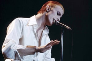 David Bowie on stage as the Thin White Duke – a louche look that has influenced menswear ever since.