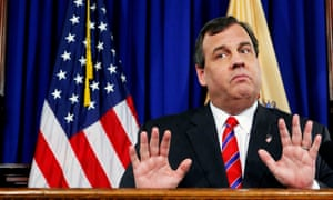 Christie denied he had got any sun on Sunday, but a spokesman later said this was because he was wearing a hat
