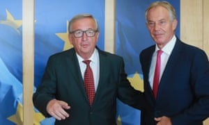 Tony Blair with the European commission president, Jean-Claude Juncker