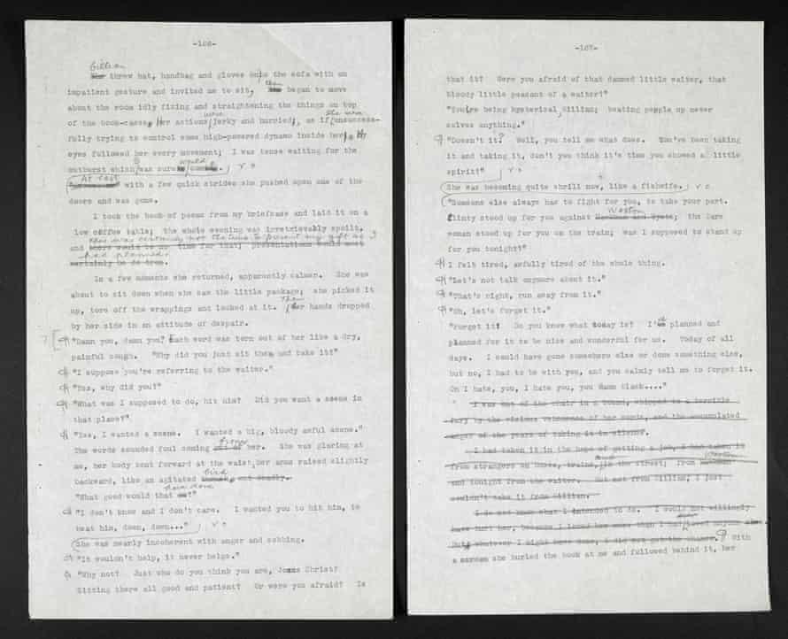 ER Braithwaite's typescript of his novel To Sir, With Love (1959), with self-censored lines. © The Estate of ER Braithwaite