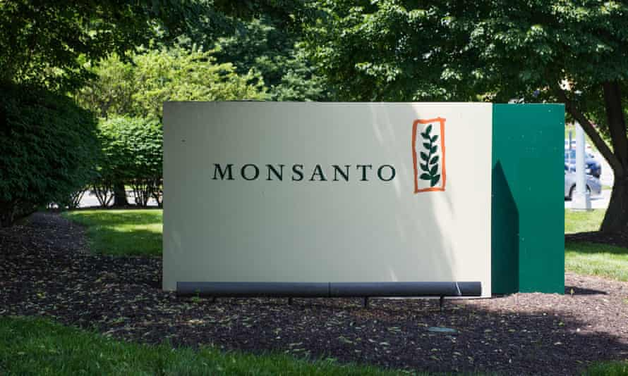 A sign on the campus of Monsanto headquarters in St Louis, Missouri