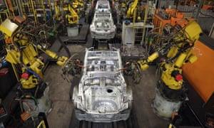 Nissan's car manufacturing plant in Sunderland.