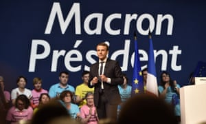 Emmanuel Macron, French presidential election candidate for the En Marche! movement.