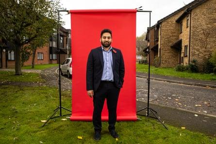 Ali Milani photographed in Uxbridge near his home