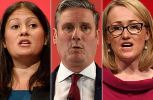 Labour leadership candidates: Lisa Nandy, Keir Starmer and Rebecca Long-Bailey