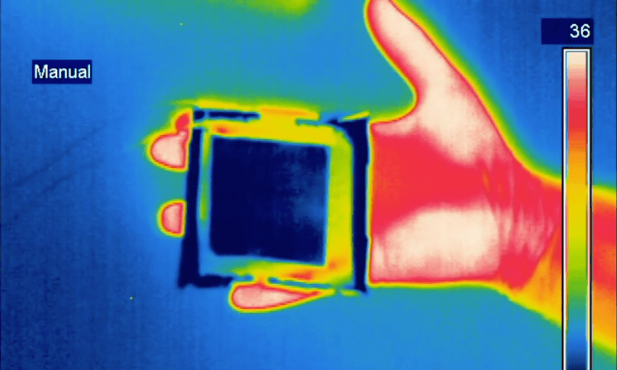 The infrared device in action