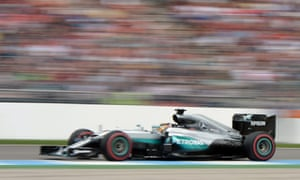 Lewis Hamilton speeds along.