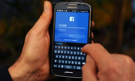 facebook in use on a samsung phone