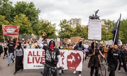 Black Lives Matter demonstration in London in July.
