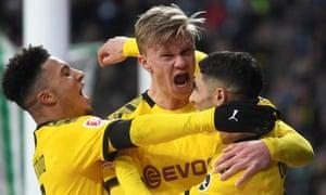 Erling Braut Haaland continued his phenomenal scoring record for Dortmund against Werder Bremen.