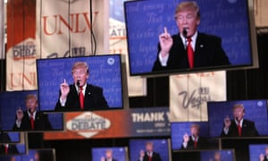 Trump on television screens
