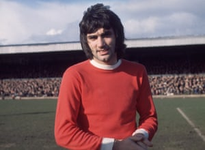 George Best at Northampton, whose dressing room he visited after the game.