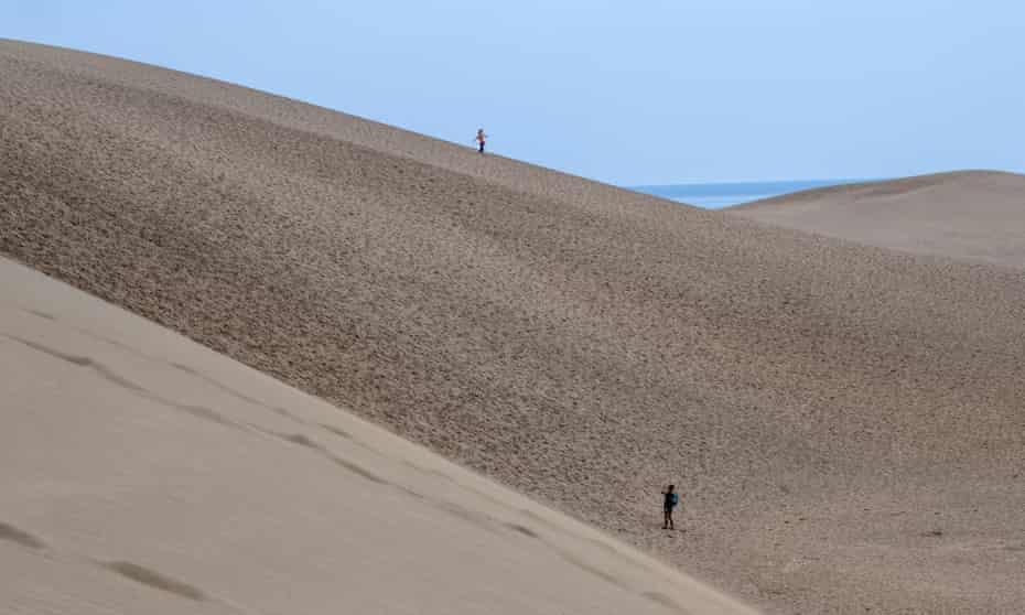 The Tottori sand dunes, Japan.
