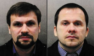 Picture released by police of Ruslan Boshirov (left) and Alexander Petrov.