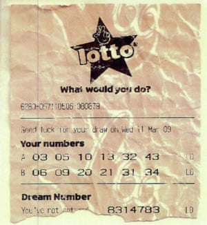 The fake National Lottery ticket used by Putman.
