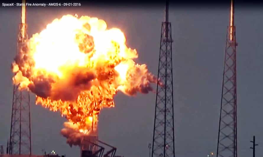 The SpaceX rocket explodes at Cape Canaveral – it was scheduled to carry a Facebook satellite which would help bring the internet to parts of Africa..