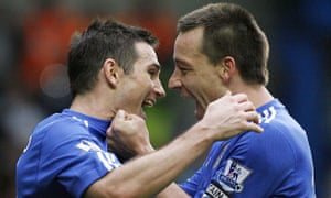 Frank Lampard, now of Frank Lampard's Derby County, with Plain Old John Terry.