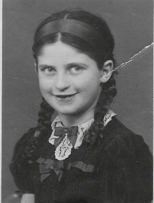 Eva Szepesi as a young girl